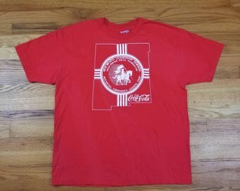 Vintage 90s Coke Double Sided Coca Cola Southwest western New Mexico Shirt Size XL Rare
