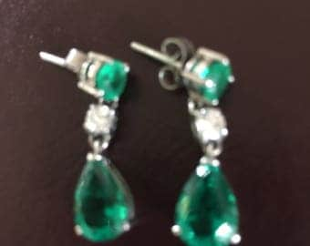 Emeral and Dimond Queen Earing