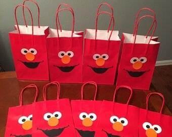 Elmo Goody Bags, Elmo Goodie Bags, Birthday Favor Bags