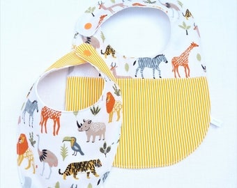 "set of 2 bibs 0/24 months ""Savannah"""