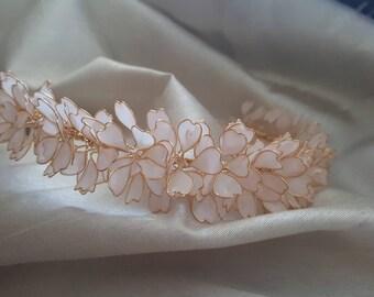 Flower bridal crown