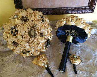 The Golden Brooch Bridal Bouquet