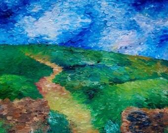 Oil Painting Print of Irish Field