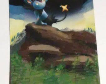 Luxio Pokemon Card Painting