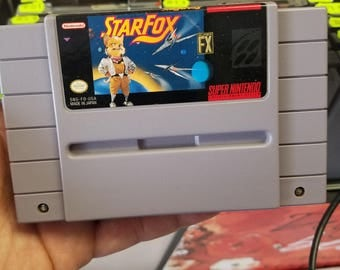 Star Fox Super Nintendo game. SNES. Original game. Cleaned and tested