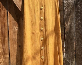 Vintage Mustard Yellow Skirt