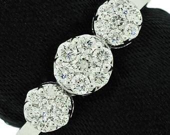 Stylish 14k White Gold Ring 0.57ct. Diamonds with IGI Certificate