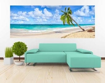 Removable Wallpaper Mural Peel & Stick White Sandy Beach in Punta Cana