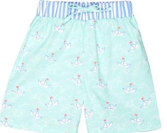 Boys Swim Trunks, Boat Swim Trunks, Summertime, Swim Trunks, Toddler Boy Swim Trunks