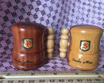 Vintage Great Smoky Mountain Salt and Pepper Set
