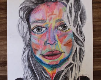 Art of Woman's Colorful Face