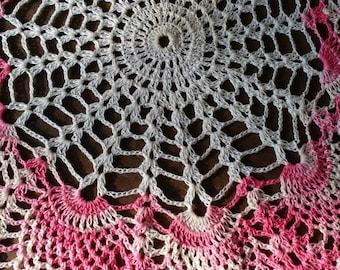 Handmade Pink & White Doilies