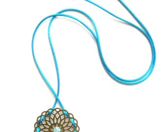 CHEAP discontinued - Antique NAVAJO necklace and its blue cord