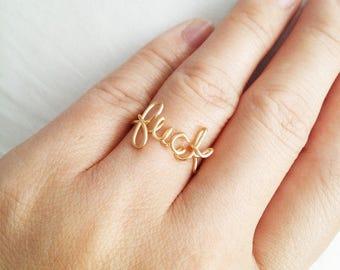 Custom Name DIY Rings Handmade Profanity wire-wrap Personalized Ring for women fashion gift birthday