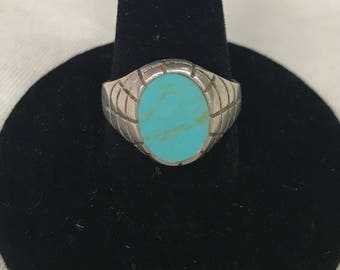 Sterling turquoise sz 7 ring