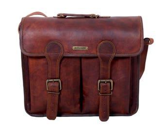 """16"""" Vintage Briefcase Satchel Soft Leather Laptop Messenger Bag Shoulder, Handcrafted Original Leather Bag by UrbanHide"""