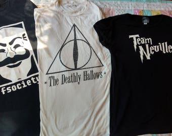 Geeky T-Shirt Pillows (Harry Potter, Mr. Robot, Edward Scissorhands, Portal, and More!)