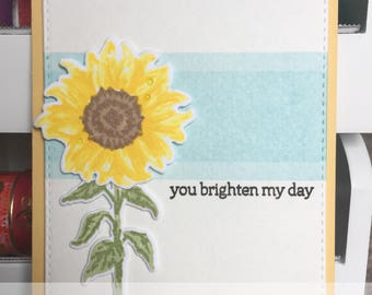 Encouragement Greeting Card with Sunflower