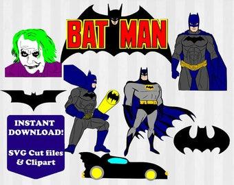 Batman SVG, Batman Clipart, Batman svg file, PNG Files, SVG Files for Silhouette Cameo, Superhero svg, Scrapbook, diy party, superhero svg