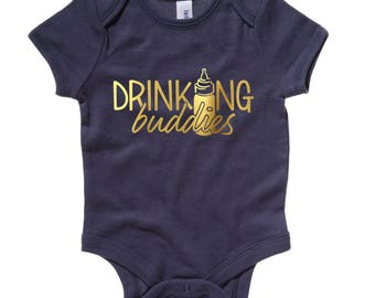 Drinking Buddies Onesie, Twins, Twin Onesies, Baby Gift, Baby Onesie, Baby Shower