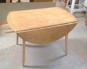 Ercol drop leaf oval 1950's table