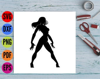 Female Superhero Svg, Superhero Svg, Superhero Dxf, Superhero Vector, Superhero Cricut, Hero Svg, Hero Dxf, Hero Cut File, Female Svg