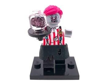 Zombie Waitress Custom Lego Minifigure