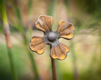 Rusty Forget-Me-Not Plant Stake