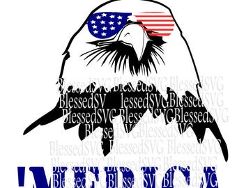 Eagle svg,Patriotic svg,American Eagle svg, 4th of July,merica svg,SVG cutting file for Silhouette and Cricut,American Flag svg