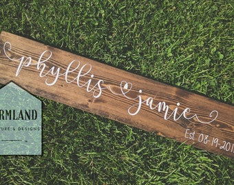 Couple Wooden sign, Wedding gift, Love, Established Sign, Couple Sign, Anniversary Sign, Hanging Wall Art, Engagement Sign, Newlywed Gift