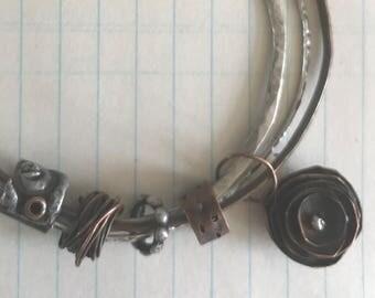 Triad bangle charm bracelet