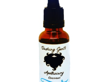 Dashing Gents Apothecary- Coconut Beard Oil 30ml for conditioning and soothing itching