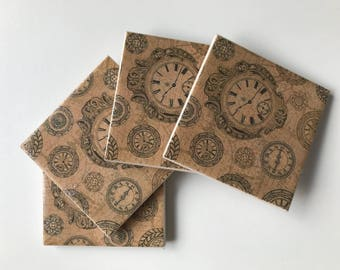 About time tile coasters