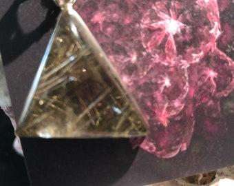Incredible rutilated (rutile) wuartz pendant