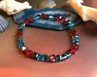 Fire & Ice Beaded Bracelet