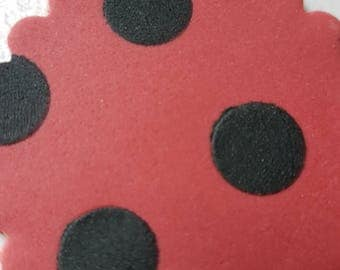 6 x Ladybird Cake Toppers
