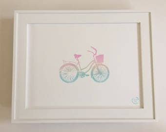 Surfing Art Surf Home Decor Wall Art - Beach Cruiser Bicycle Bike (Hand painted)
