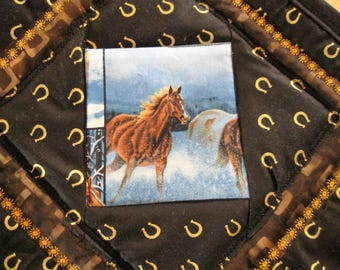 Wild Horses of Colorado in Winter Placemats