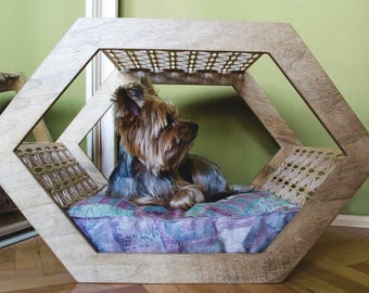 Dog Bed / Pet Bed / Cat Bed / Modern wooden pet furniture - Lilly / SALE -20%
