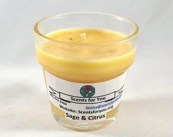 Sage & Citrus Votive Cup Candle