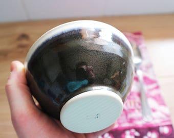 bowl, tableware, bubbleware, handmade bowl, ceramic bowl, stoneware bowl, handmade, black bowl, wheel thrown bowl