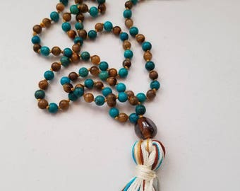 Mala 108 bead prayer meditation necklace