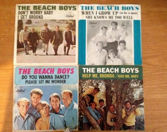 The Beach Boys 45's Covers and Records