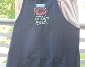 Men's Embroidered Apron /Hey Good Lookin .... Apron