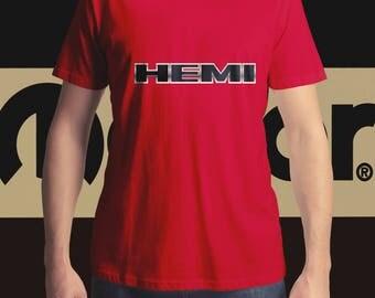 HEMI Badge T-Shirt, Men's T-Shirt, Women's T-Shirt, Classic Car T-Shirt, MOPAR T-Shirt, Muscle Car T-Shirt,