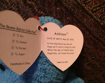Ty Collectible beanie baby Addison