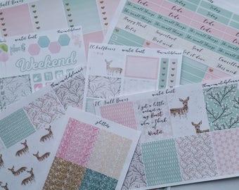 Erin condren winter hearts,planner sticker kits, mini kit, medium kit deluxe kit, glitters.Build your kit. kate spade, kikki k, Dori,Winter.