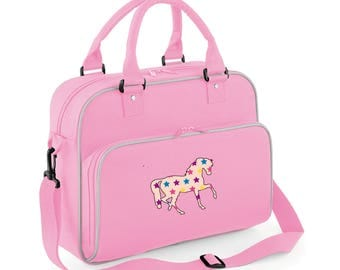 iLeisure Girls Personalised Name Star Horse Bag.