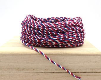 Red, White and Blue. Bakers Twine. 12 Ply. Gift Wrapping. Packaging Twine.