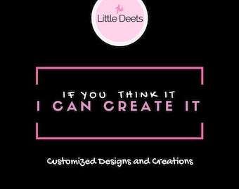 Designed and created just for you! Customized invitations - digital file or physical invitations